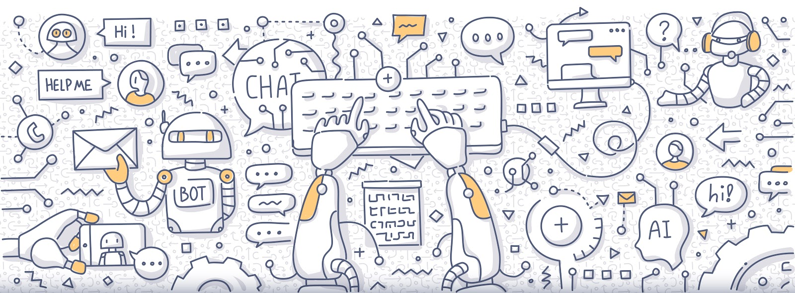 Chatbot Doodle Concept